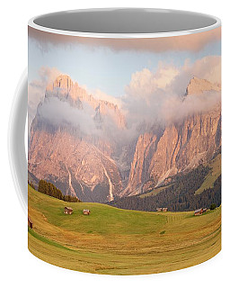 Final Light Hits The Langkofel And Sassoungo Coffee Mug