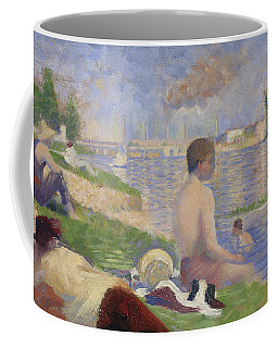 Final Study For Bathers At Asnieres Coffee Mug