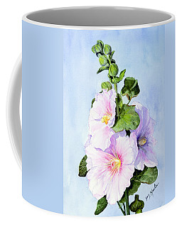 Finally Hollyhocks Coffee Mug