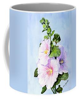 Finally Hollyhocks Coffee Mug