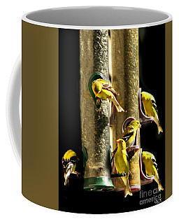Finch Feeding Frenzie Coffee Mug
