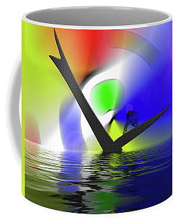 Find The Seed At The Bottom Of Your Heart And Bring Forth A Flower Coffee Mug by Sir Josef - Social Critic -  Maha Art