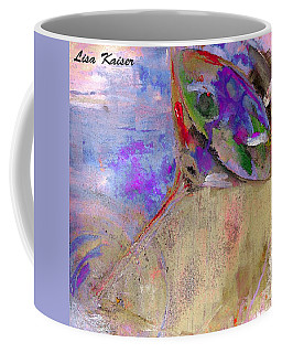 Fine Art Martini With Olive On The Beach Abstract Painting Coffee Mug