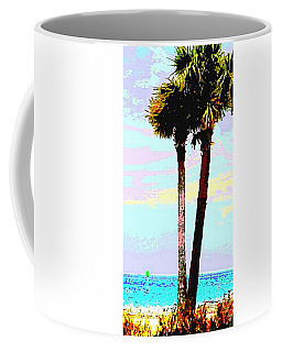 Fine Art Palm Trees Gulf Coast Florida Original Digital Painting Coffee Mug