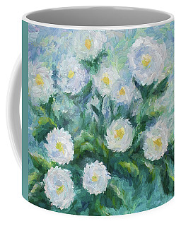 Finger Painted Garden Flowers Coffee Mug