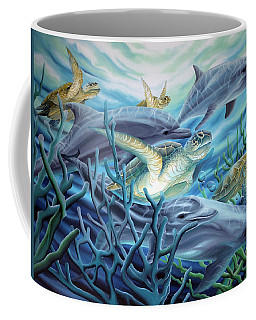 Fins And Flippers Coffee Mug by William Love