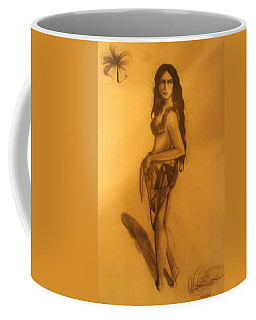 Coffee Mug featuring the drawing Fi'on-hu by Michelle Dallocchio