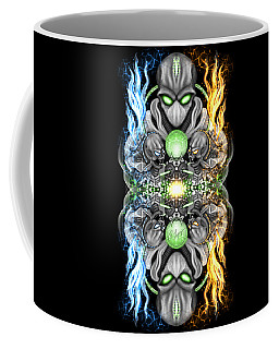 Fire And Ice Alien Time Machine Coffee Mug