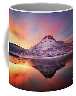Fire And Ice - Flatiron Reservoir, Loveland Colorado Coffee Mug