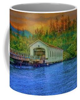 Fire At The Cascades Coffee Mug