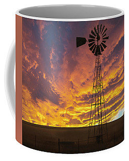 Coffee Mug featuring the photograph Fire At The Ranch by Scott Cordell