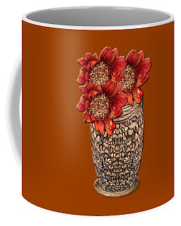 Coffee Mug featuring the photograph Fire Brick Flora Vase by Rockin Docks Deluxephotos