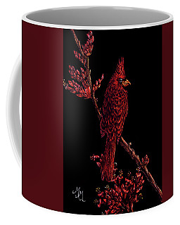 Fire Cardinal Coffee Mug