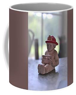 Fire Chief Molded Stone Coffee Mug