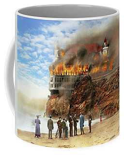 Coffee Mug featuring the photograph Fire - Cliffside Fire 1907 by Mike Savad