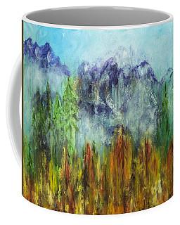Fire In Glacier Park Coffee Mug
