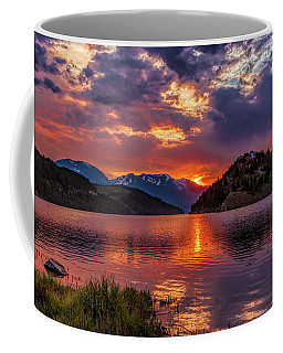 Fire On The Water Reflections Coffee Mug