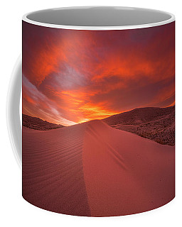 Fire Over Kelso Dunes Coffee Mug