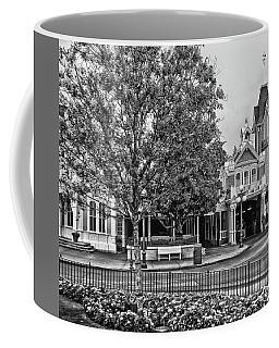 Fire Station Main Street In Black And White Walt Disney World Mp Coffee Mug