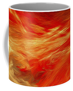 Fire Storm Abstract Coffee Mug by Andee Design