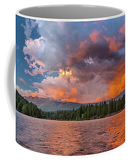 Fire Sunset Over Shasta Coffee Mug