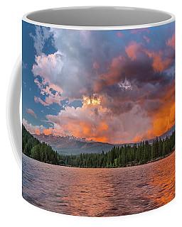Fire Sunset Over Shasta Coffee Mug by Greg Nyquist