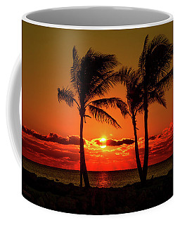 Fire Sunset Through Palms Coffee Mug