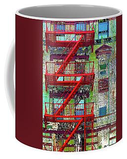 Coffee Mug featuring the mixed media Fire by Tony Rubino