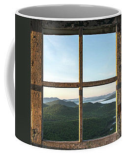 Coffee Mug featuring the photograph Fire Tower Frame by Brad Wenskoski