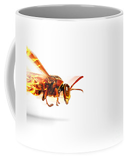 Fire Wasp Racing At Scorching Speed Coffee Mug