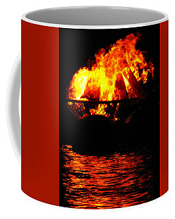 Fire Water Illuminates The Night Coffee Mug