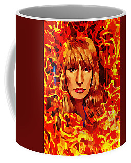 Fire Woman Abstract Fantasy Art Coffee Mug
