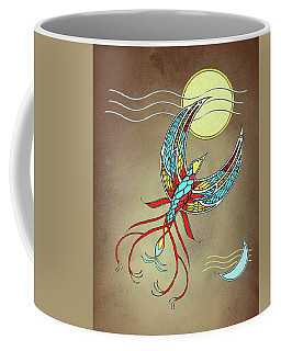 Firebird With Sun And Moon Coffee Mug
