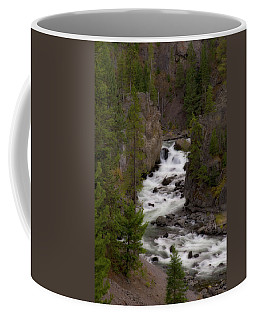 Coffee Mug featuring the photograph Firehole Canyon by Steve Stuller