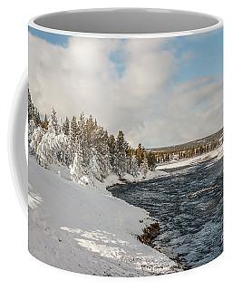 Firehole River On A Winter Day Coffee Mug