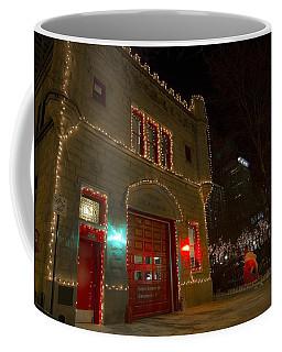 Firehouse In Xmas Lights Coffee Mug