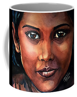Coffee Mug featuring the painting Firelight by Michal Madison