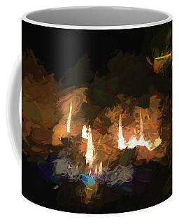 Firelogs Impasto Coffee Mug by Aliceann Carlton