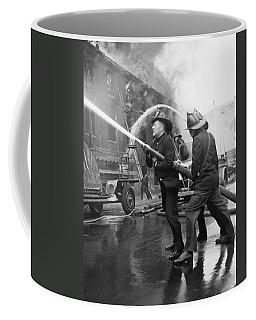 Firemen With Hose Coffee Mug
