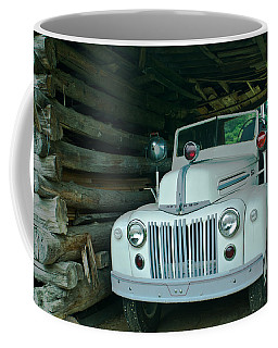 Firetruck In A Barn Coffee Mug