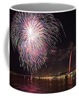 Fireworks At The Arch Coffee Mug
