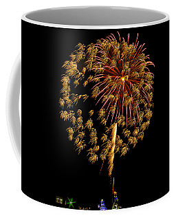 Coffee Mug featuring the photograph Fireworks 10 by Bill Barber