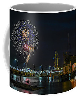 Fireworks And 17th Street Docks Coffee Mug