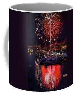 Fireworks At The Docks Coffee Mug