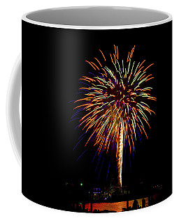 Coffee Mug featuring the photograph Fireworks by Bill Barber