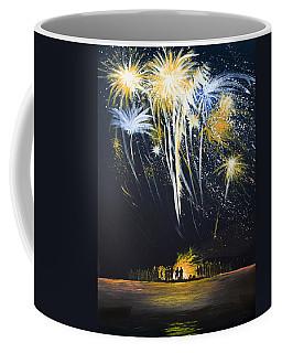 Fireworks Bonfire On The West Bar Coffee Mug
