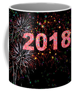 Fireworks Happy New Year 2018   Coffee Mug