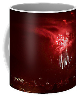 Fireworks In Red And White Coffee Mug