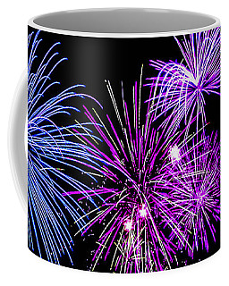 Fireworks Over Open Water 2 Coffee Mug by Naomi Burgess