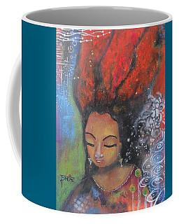 Firey Hair Girl Coffee Mug by Prerna Poojara